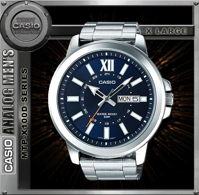 CASIO MTP-X100D-2A SPORTY BIG CASE WATCH ☑ORIGINAL☑