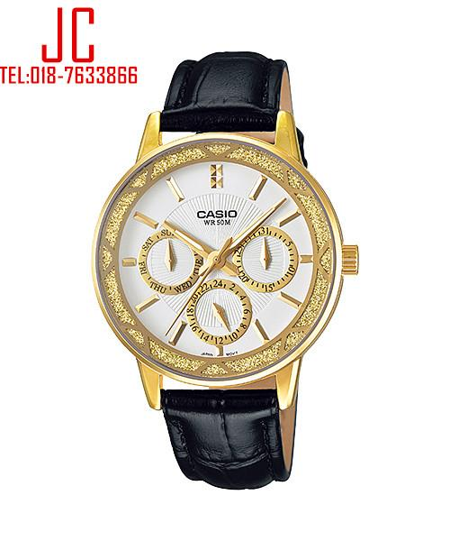 CASIO MULTI-HAND LADY LEATHER LTP-2087GL-1AV