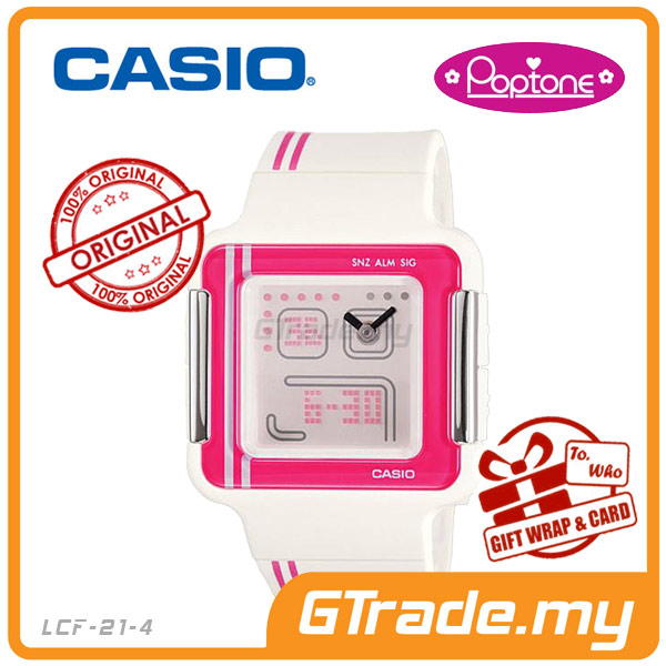 CASIO POPTONE LCF-21-4DR Analog Digital Watch | Youth Colorful Design
