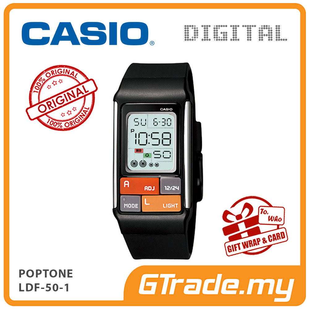 CASIO POPTONE LDF-50-1 Kids / Ladies Digital Watch | Cute Color