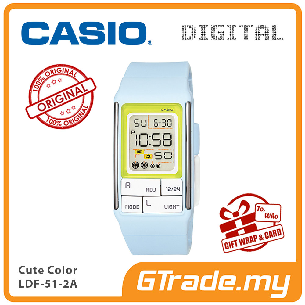 CASIO POPTONE LDF-51-2A Kids / Ladies Digital Watch | Cute Color