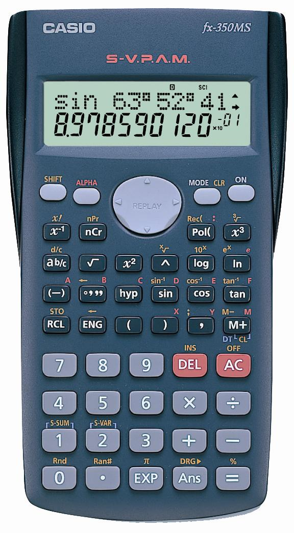 CASIO Scientific Calculator, FX-350MS [Standard Model for School]