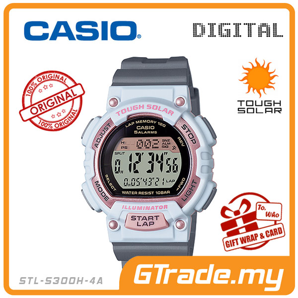 CASIO SPORTS STL-S300H-4A Kids Ladies Digital Watch | Running Track