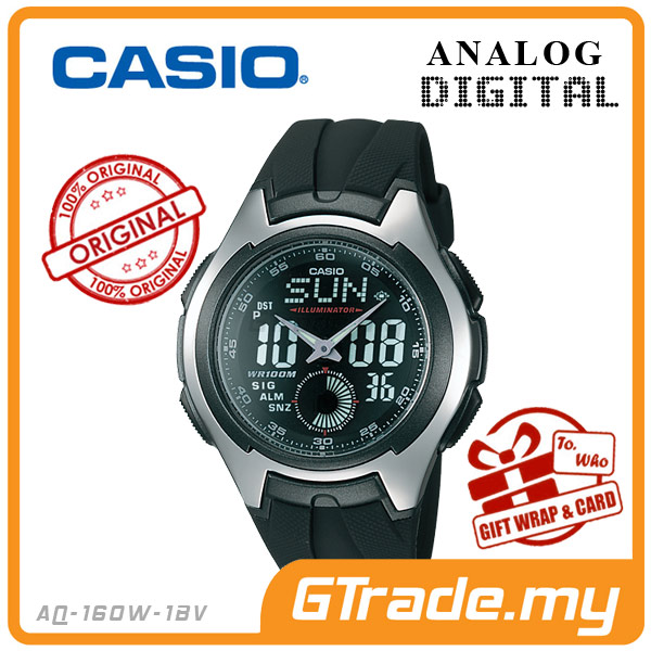 CASIO STANDARD AQ-160W-1BV Analog Digital Watch | Full Face LCD