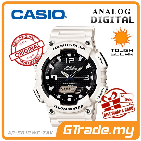 CASIO STANDARD AQ-S810WC-7AV Analog Digital Watch | Solar World.T