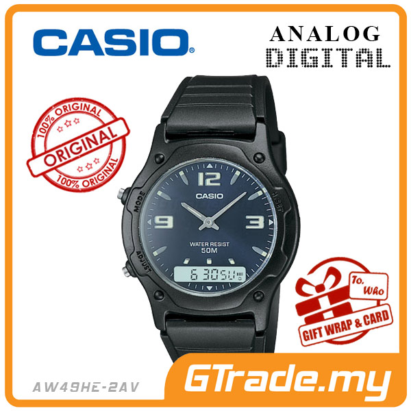CASIO STANDARD AW49HE-2AV Analog Digital Watch | Classic Dual Time