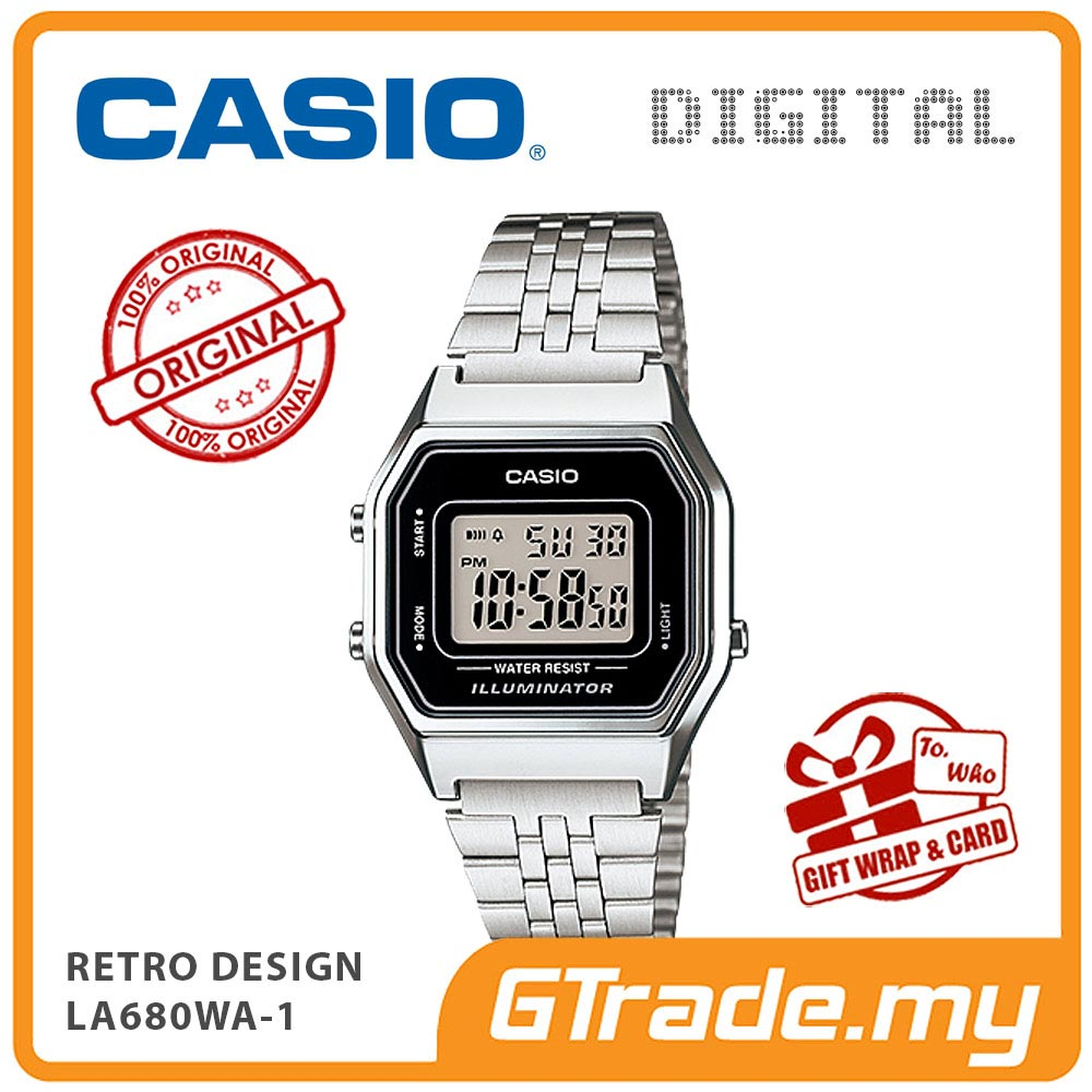 CASIO STANDARD LA680WA-1 Digital Ladies Watch | Retro New Color Alarm