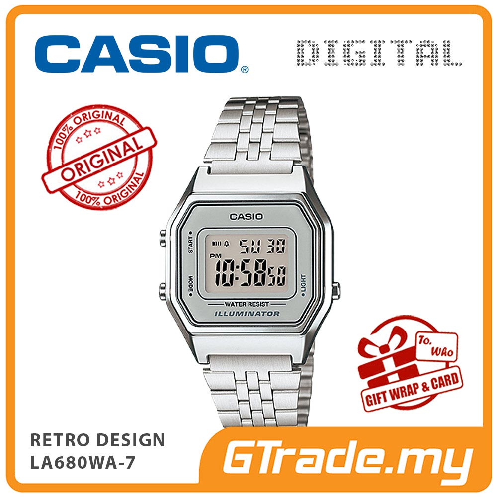 CASIO STANDARD LA680WA-7 Digital Ladies Watch | Retro New Color Alarm