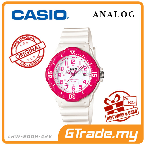 CASIO STANDARD LRW-200H-4BV Analog Ladies Watch | Date Display