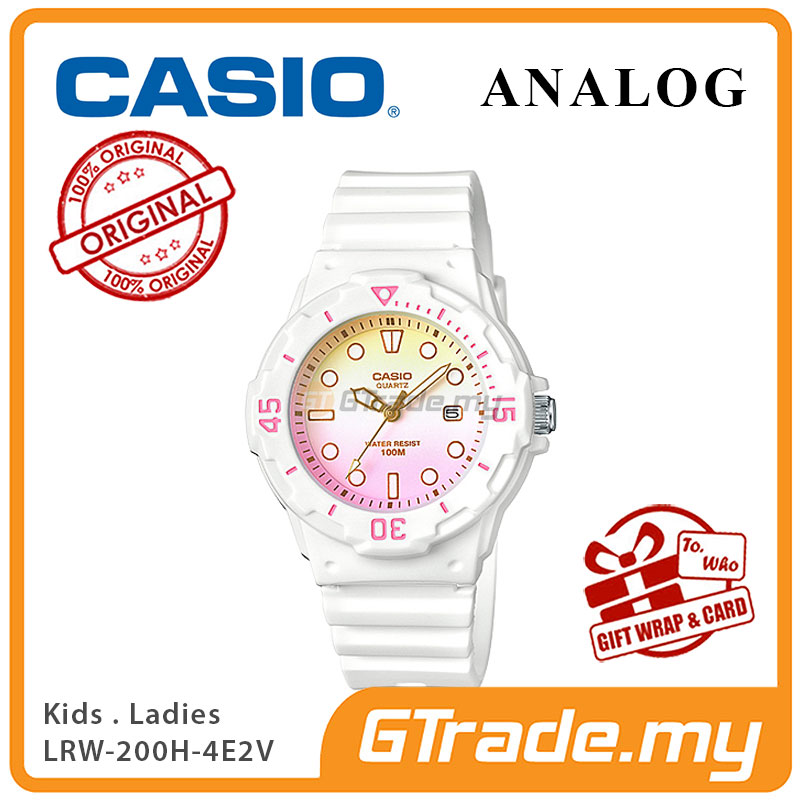 CASIO STANDARD LRW-200H-4E2V Analog Ladies Watch | Date Display