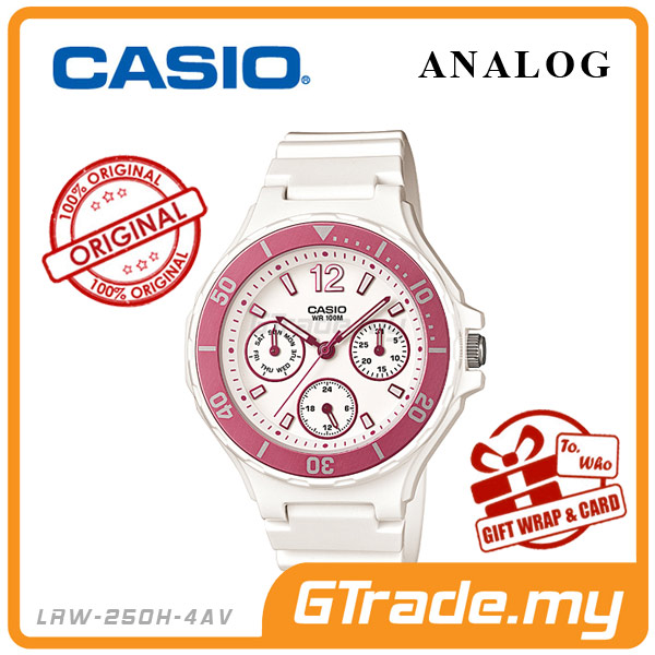 CASIO STANDARD LRW-250H-4AV Analog Ladies Watch | Date Display 24Hrs