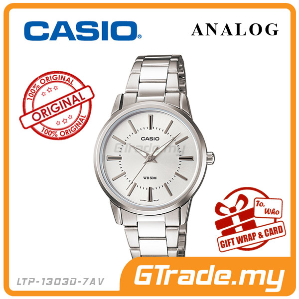 CASIO STANDARD LTP-1303D-7AV Analog Ladies Watch | Clean & Elagance