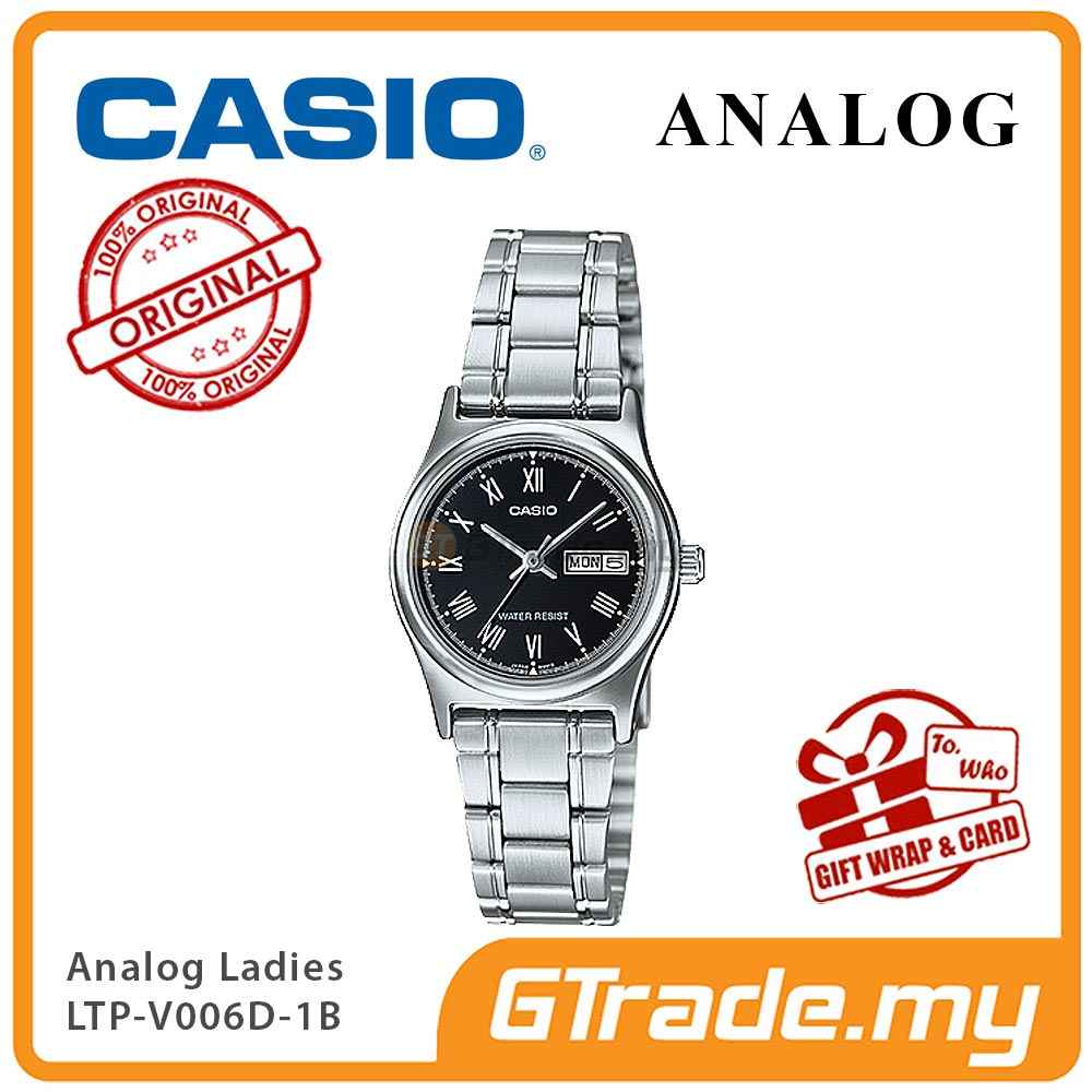 CASIO STANDARD LTP-V006D-1BV Analog Ladies Watch | Day Date Display