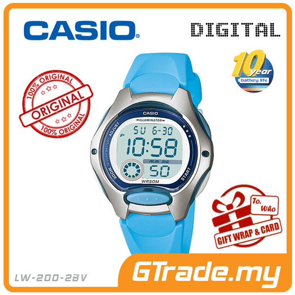 CASIO STANDARD LW-200-2BV Digital Watch | 10 Yrs Battery Life Petide
