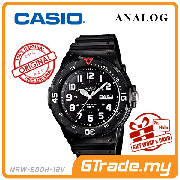 CASIO STANDARD MRW-200H-1BV Analog Mens Watch | Day Date Display