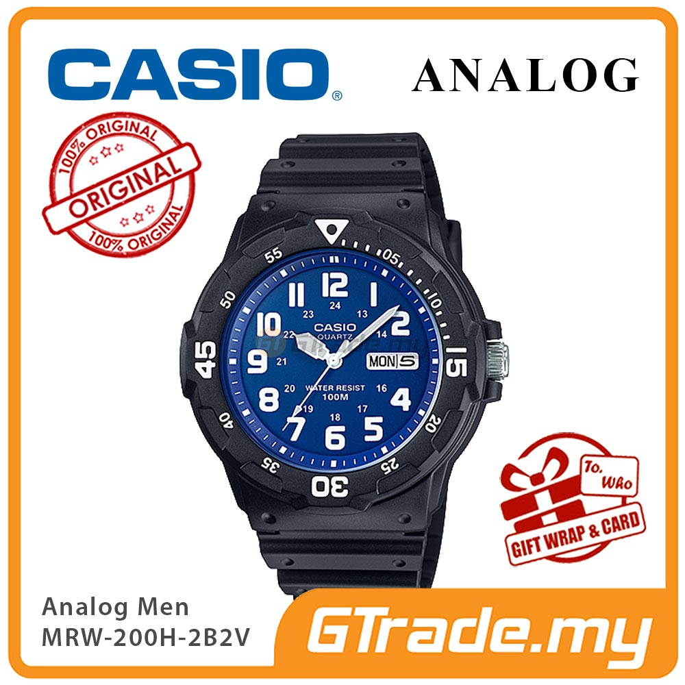 CASIO STANDARD MRW-200H-2B2V Analog Mens Watch | Day Date Display