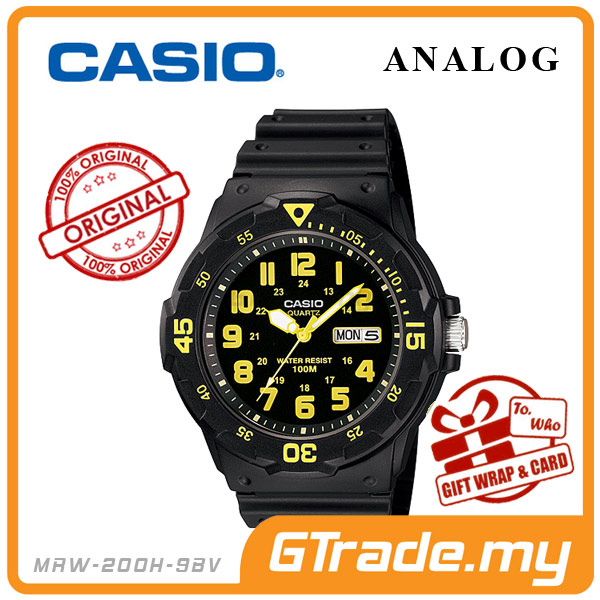 CASIO STANDARD MRW-200H-9BV Analog Mens Watch | Day Date Display