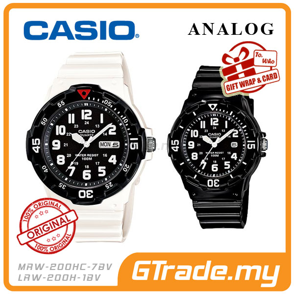 CASIO STANDARD MRW-200HC-7BV & LRW-200H-1BV Analog Couple Watch