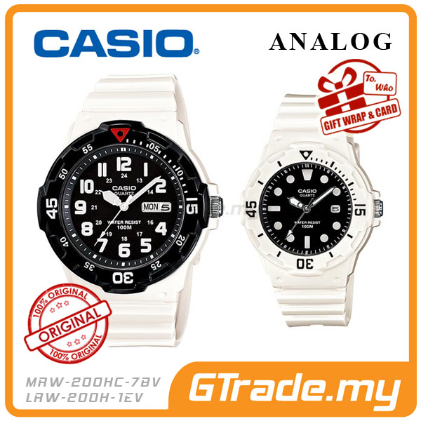 CASIO STANDARD MRW-200HC-7BV & LRW-200H-1EV Analog Couple Watch