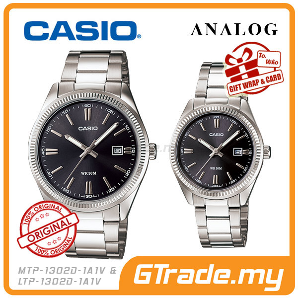 CASIO STANDARD MTP-1302D-1A1V & LTP-1302D-1A1V Analog Couple Watch