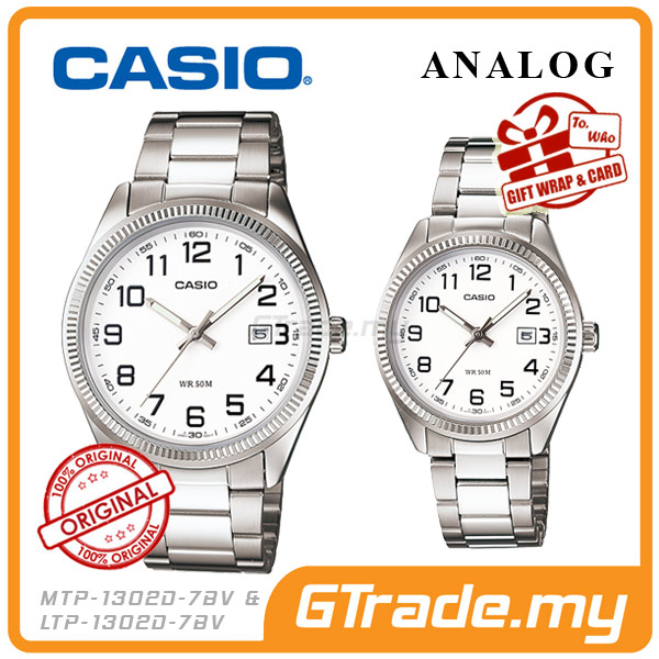 CASIO STANDARD MTP-1302D-7BV & LTP-1302D-7BV Analog Couple Watch