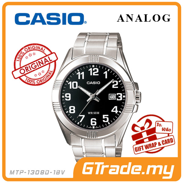 CASIO STANDARD MTP-1308D-1BV Analog Mens Watch | Date Display WR50m