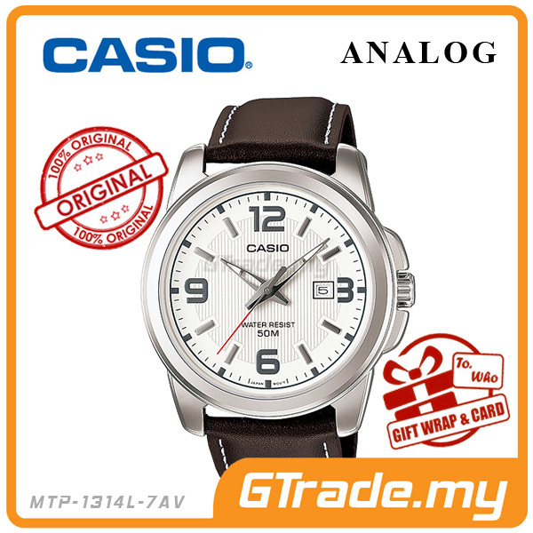 CASIO STANDARD MTP-1314L-7AV Analog Mens Watch | Date Display WR50m