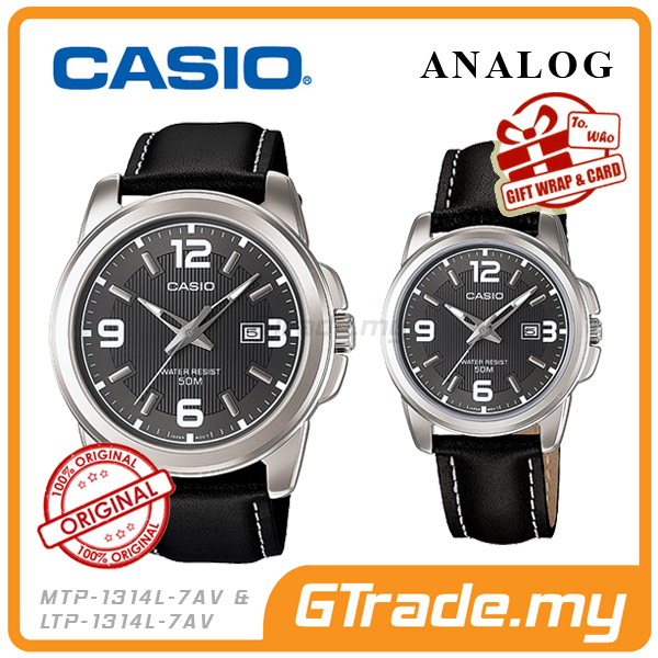 CASIO STANDARD MTP-1314L-8AV & LTP-1314L-8AV Analog Couple Watch