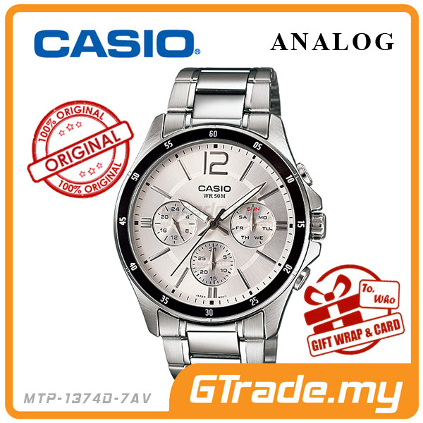CASIO STANDARD MTP-1374D-7AV Analog Mens Watch | Date Day Display