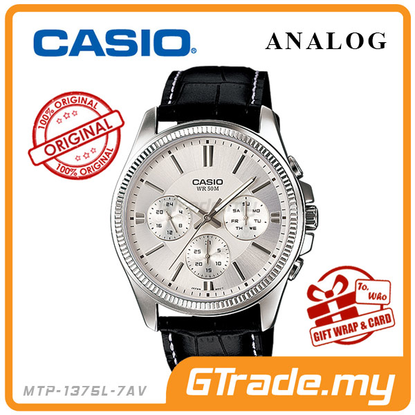 CASIO STANDARD MTP-1375L-7AV Analog Mens Watch | Multi-Hand 50M WR