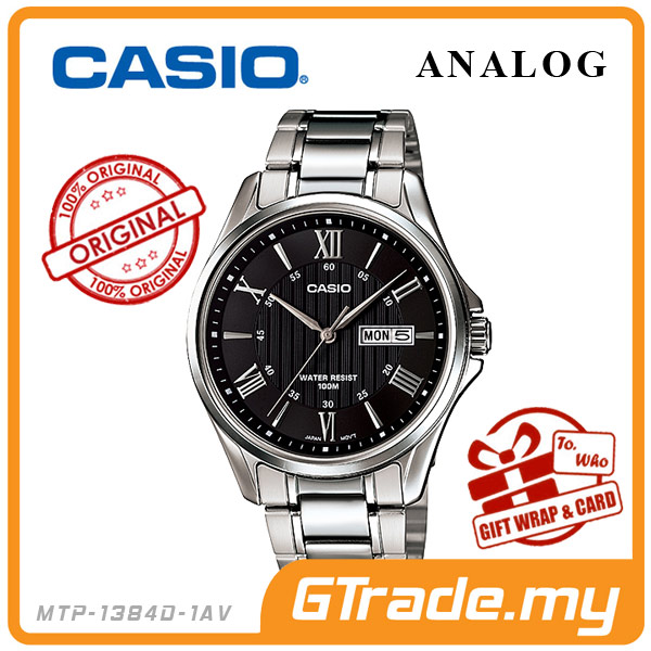 CASIO STANDARD MTP-1384D-1AV Analog Mens Watch | Day Date Display