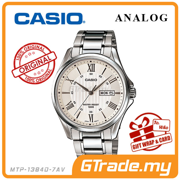 CASIO STANDARD MTP-1384D-7AV Analog Mens Watch | Day Date Display