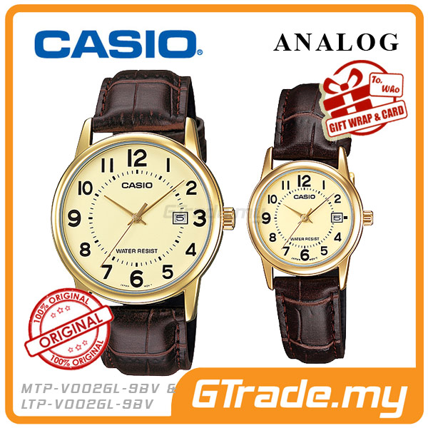CASIO STANDARD MTP-V002GL-9BV & LTP-V002GL-9BV Analog Couple Watch