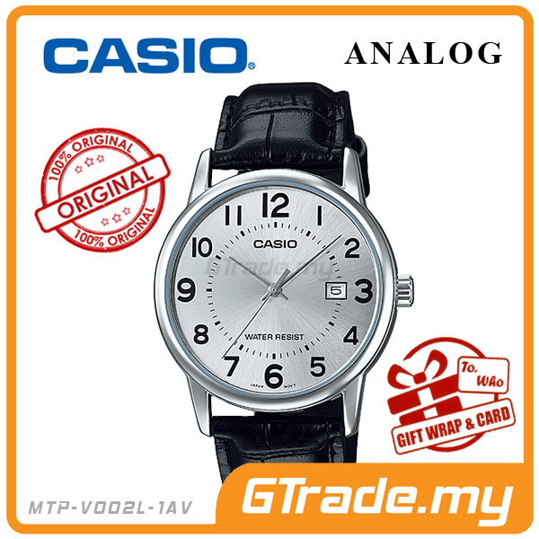 CASIO STANDARD MTP-V002L-7BV Analog Mens Watch | Date Display WR