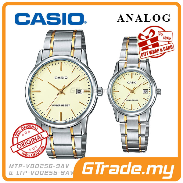 CASIO STANDARD MTP-V002SG-9AV & LTP-V002SG-9AV Analog Couple Watch