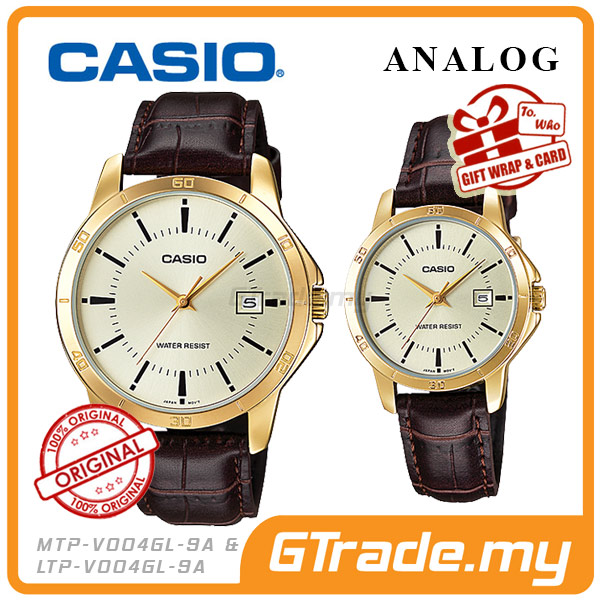 CASIO STANDARD MTP-V004GL-9AV & LTP-V004GL-9AV Analog Couple Watch