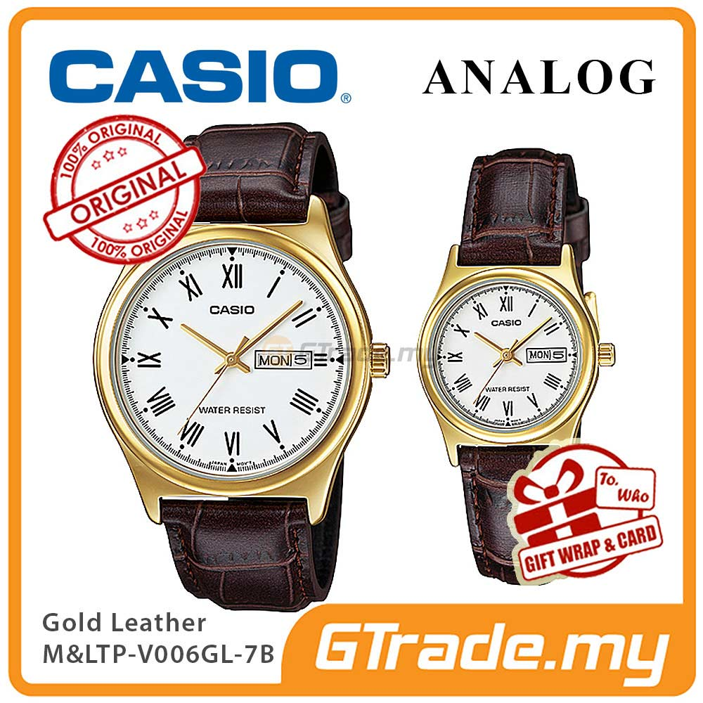 CASIO STANDARD MTP-V006GL-7BV & LTP-V006GL-7BV Analog Couple Watch