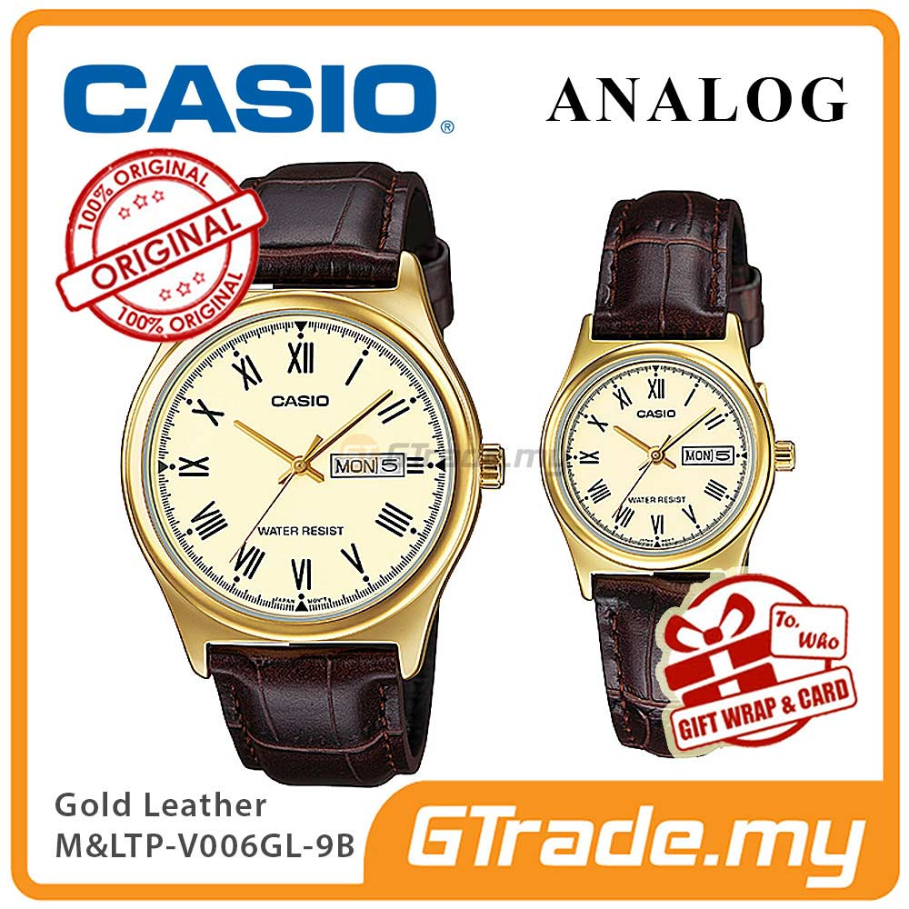 CASIO STANDARD MTP-V006GL-9BV & LTP-V006GL-9BV Analog Couple Watch