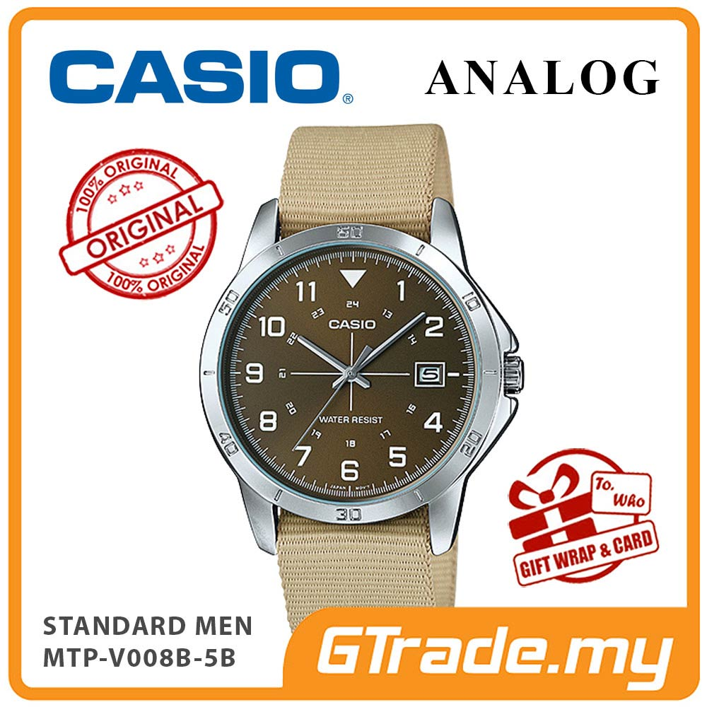 CASIO STANDARD MTP-V008B-5BV Analog Men Watch | Cloth Design Band