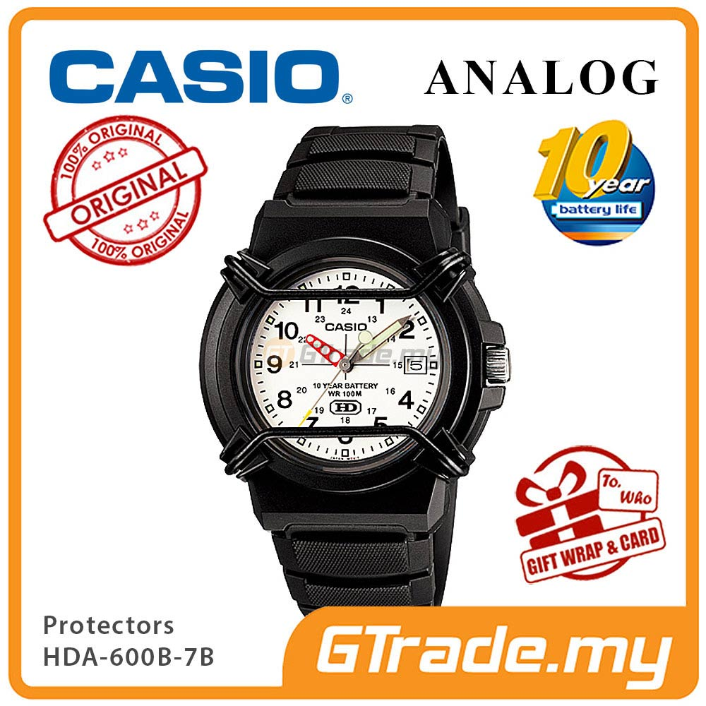 CASIO WIRE PROTECTOR HDA-600B-7B Analog Mens Watch | Date Display