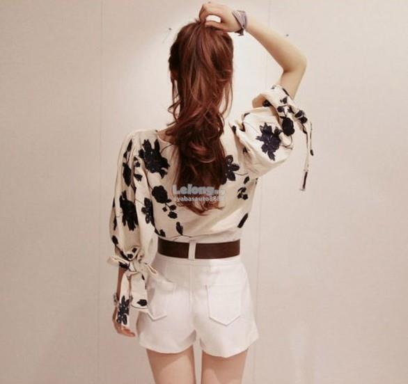 Casual Floral Loose Blouse