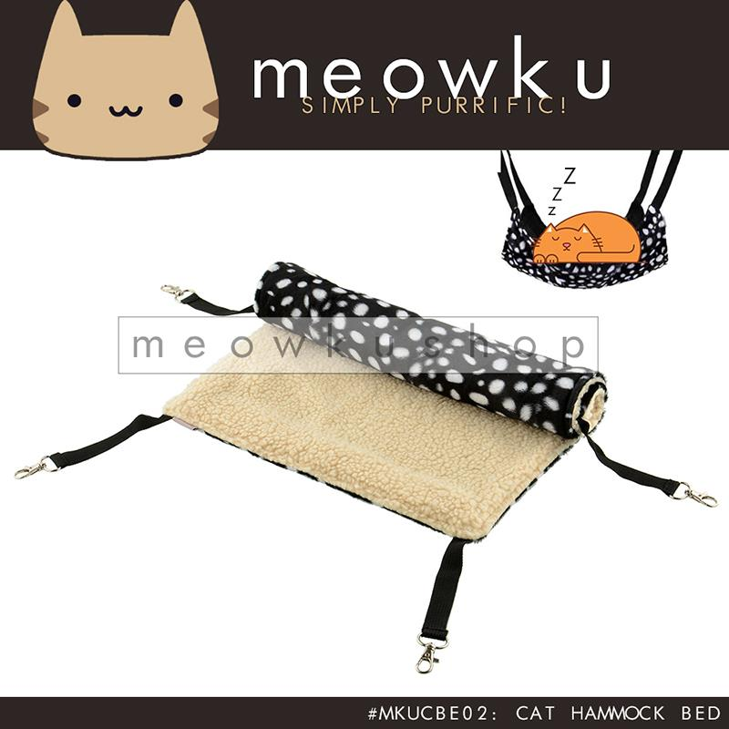 Cat Hammock (Cats Pet Swing Cage Bed Easy Comfy Cozy Sleep Polkadot)