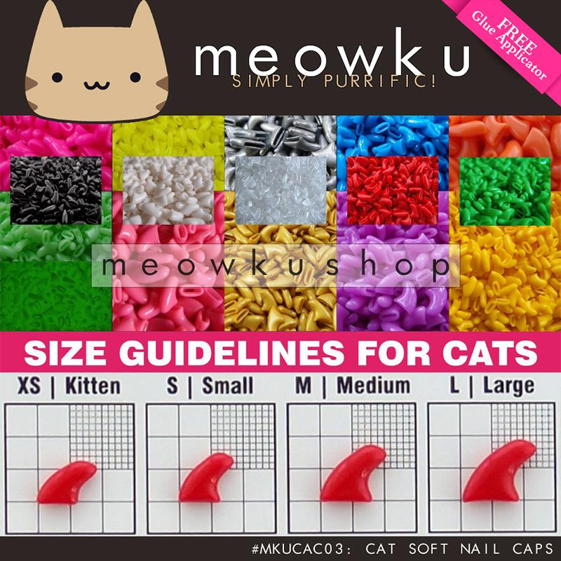 Cat Soft Nail Caps (Scratch Prevent Claw Covers Pet Dog Kucing Kuku)