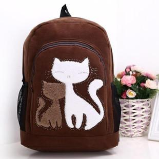 Little Cat Suede Fashion Backpack