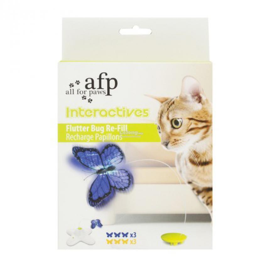 CAT TOY FLUTTER BUG REFILL INTERACTIVE 6 PACK