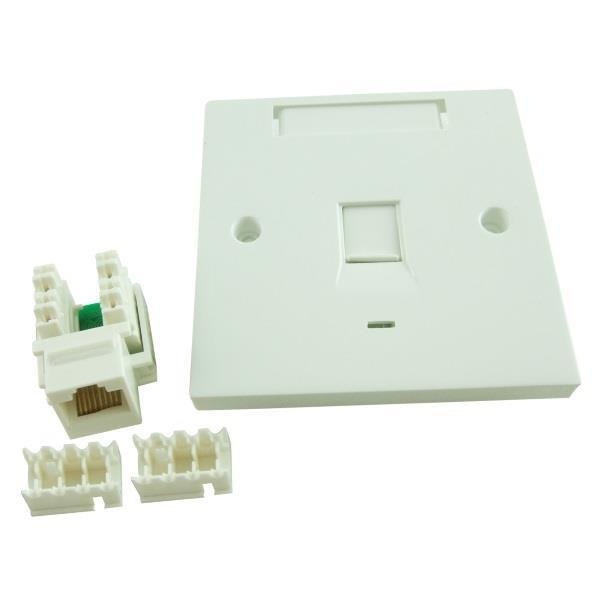 CAT5/ CAT-5E Single Face plate with Keystone Jack (SET)