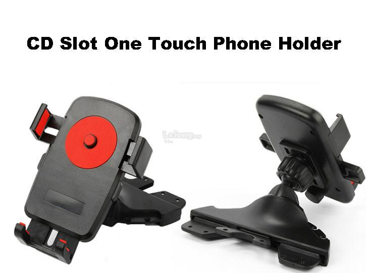 CD Slot Universal Car Mount Phone Holder Cradle ~ One Touch Holder