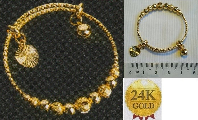 **CELLY**   24K Gold Plated Children Bangle