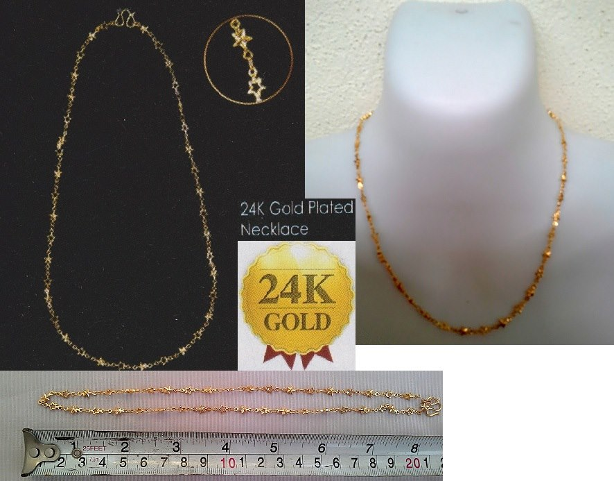 **CELLY**  24K Gold Plated Star Shape Necklace