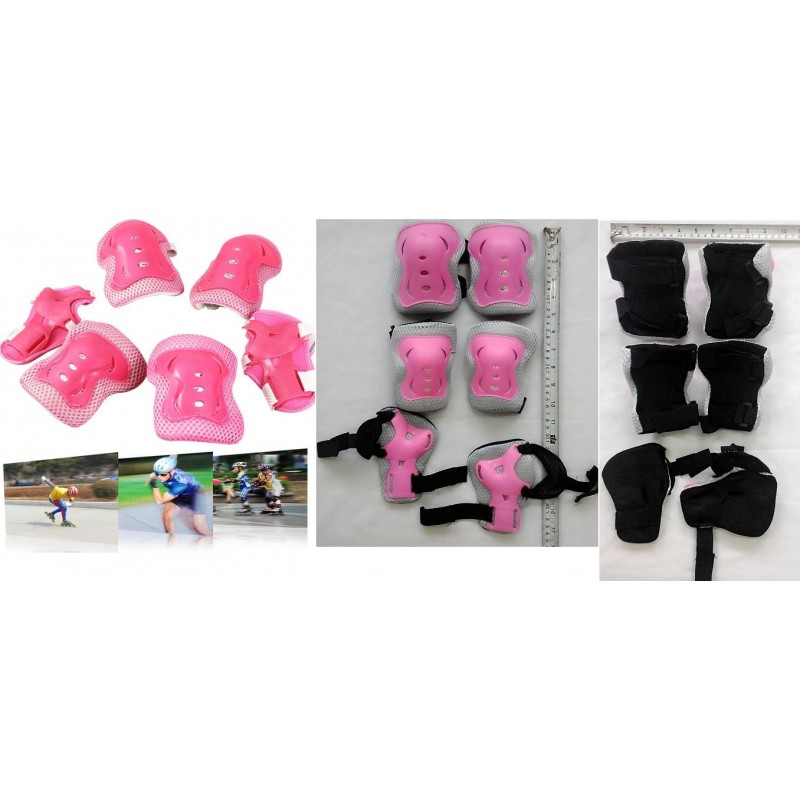 **CELLY**   6PCS Children Wrist Elbow Knee Pads Set 2 Wrist Pads + 2 E..